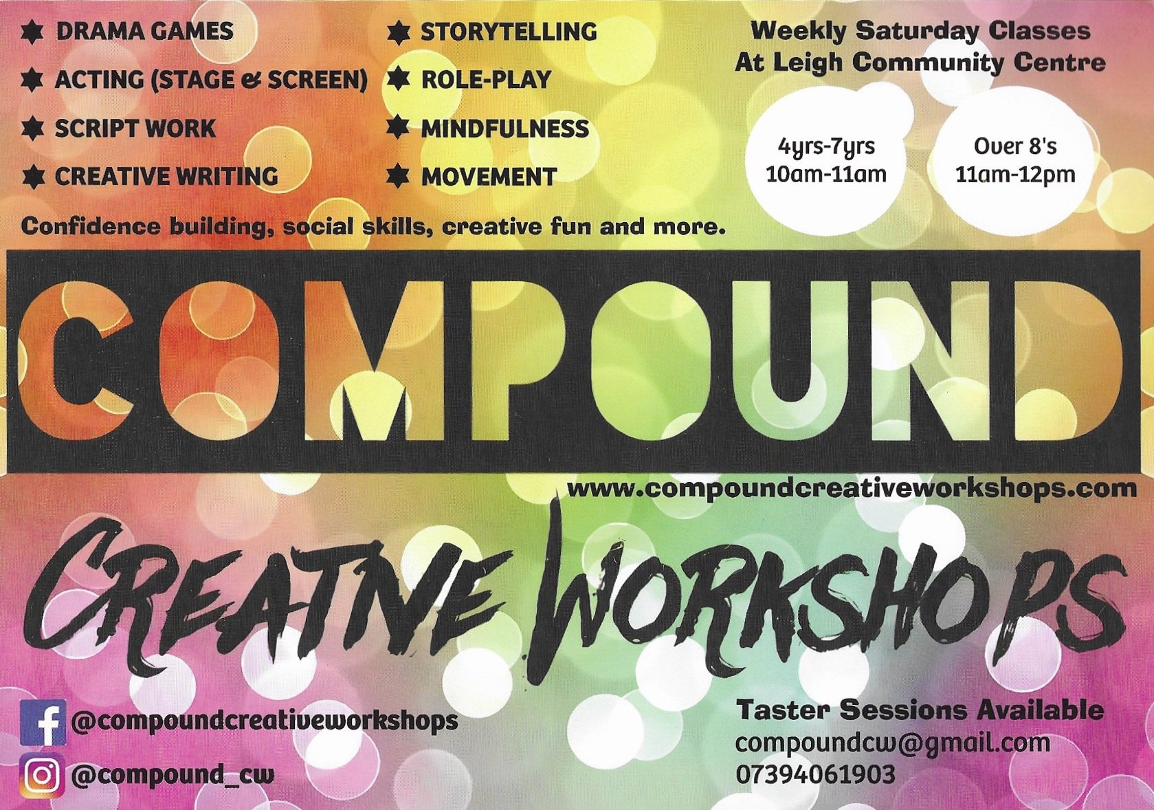 Compound Creative Workshops - 4 - 7 years